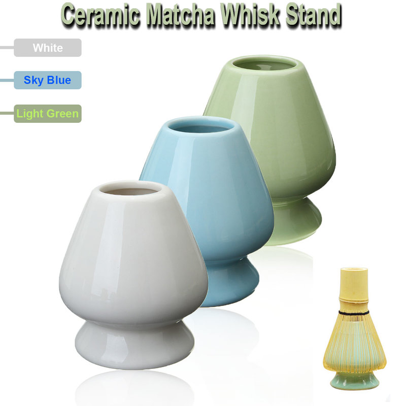 3 Color 6.1x7cm Ceramic Matcha Holder Matcha Whisk Stand Chasen Holder For Japanese Green Tea Whisk Holder