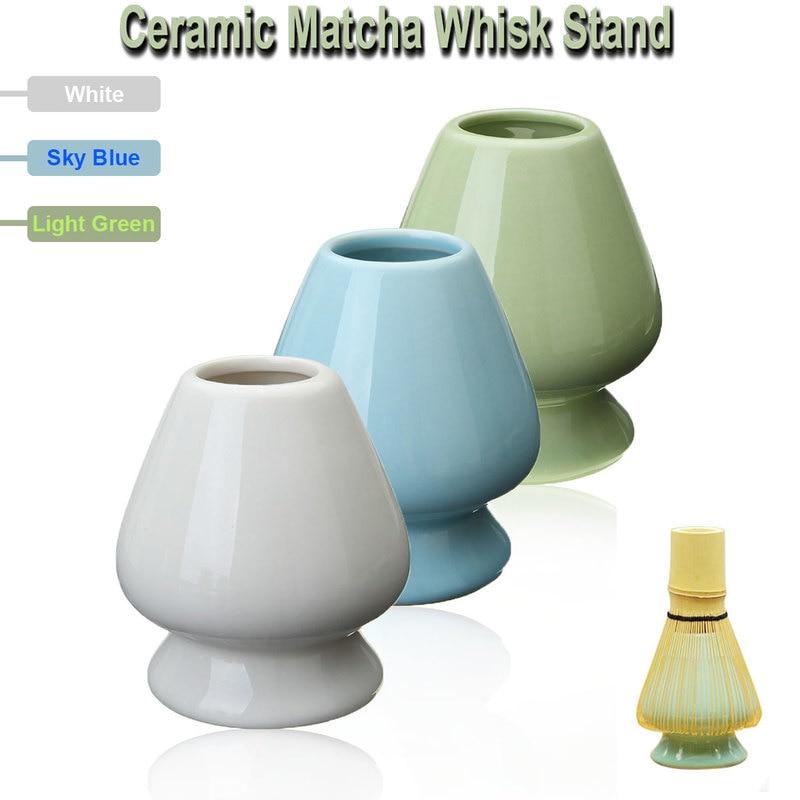 3 Color 6.1x7cm Ceramic Matcha Holder Matcha Whisk Stand Chasen Holder For Japanese Green Tea Whisk Holder