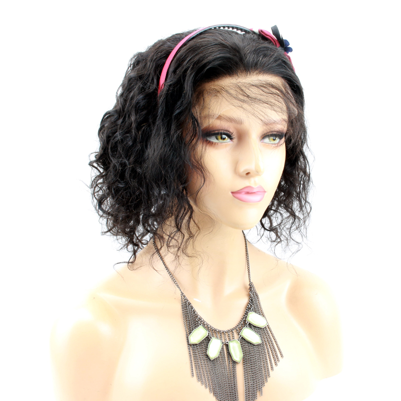 Eseewigs Short Curly Lace Front Human Hair Wigs Brazilian Remy Hair Bob Cut Wigs For All Women Pre Plucked Baby Hair Around