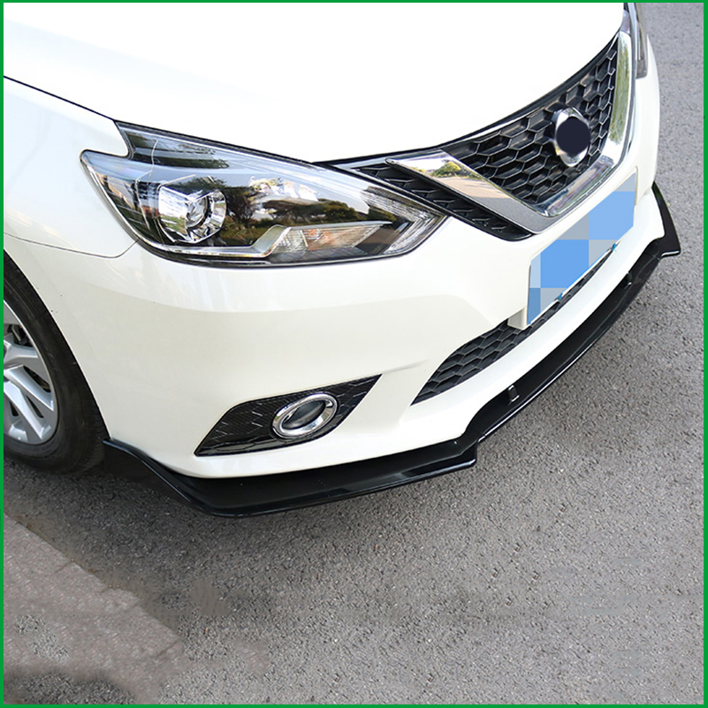 Car Styling For NISSAN SENTRA Sylphy 2016 2017 ABS Front Bumper Diffuser Body Kit Lower Grille Protector Plate Lip Cover Trim in Chromium Styling from Automobiles Motorcycles