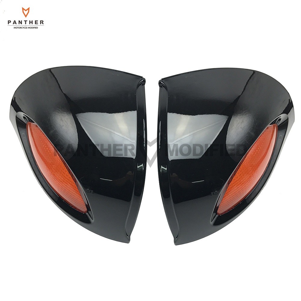 Black Motorcycle Rear View Mirrors Turn Signals Lights Cover Case for BMW R1100 RT R1100 RTP R1150 RT