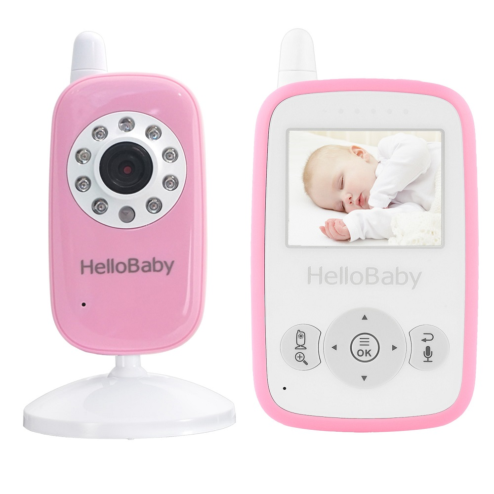 HB24 Hello Baby Wireless Video Baby Monitor With Night Vision & 2 Ways Talking, Rechargeable Battery,Security Monitoring