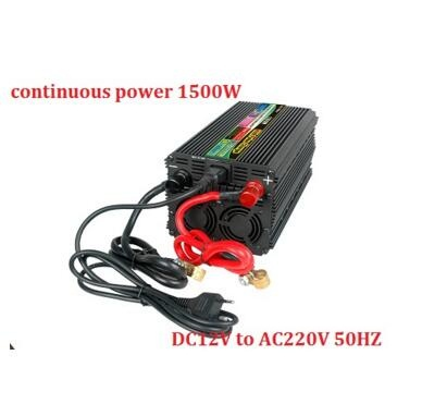 peak power 3000W 1500W DC12Vor DC24V to AC220V Modified Sine Wave Power Inverter Charger UPS with digital display