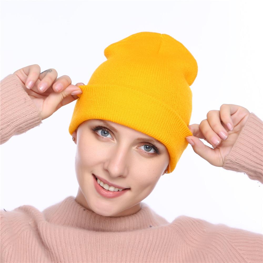 Aktiv 2018 Herbst Caps Männer Solide Strick Beanie Winter Hüte Für Frauen Herren Damen Unisex Knochen Baumwolle Frühling Winter Hüte Für Männer