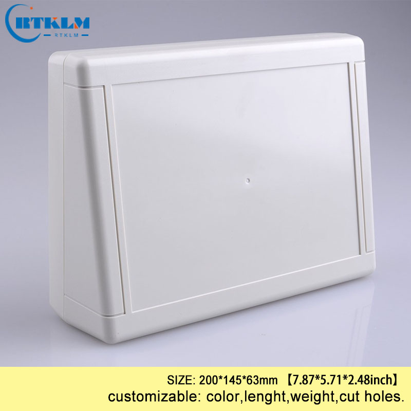 ABS Junction Box Diy Instrument Case Plastic Box For Electronic Project Plastic Electric Box Custom Desktop Box 200*145*63mm