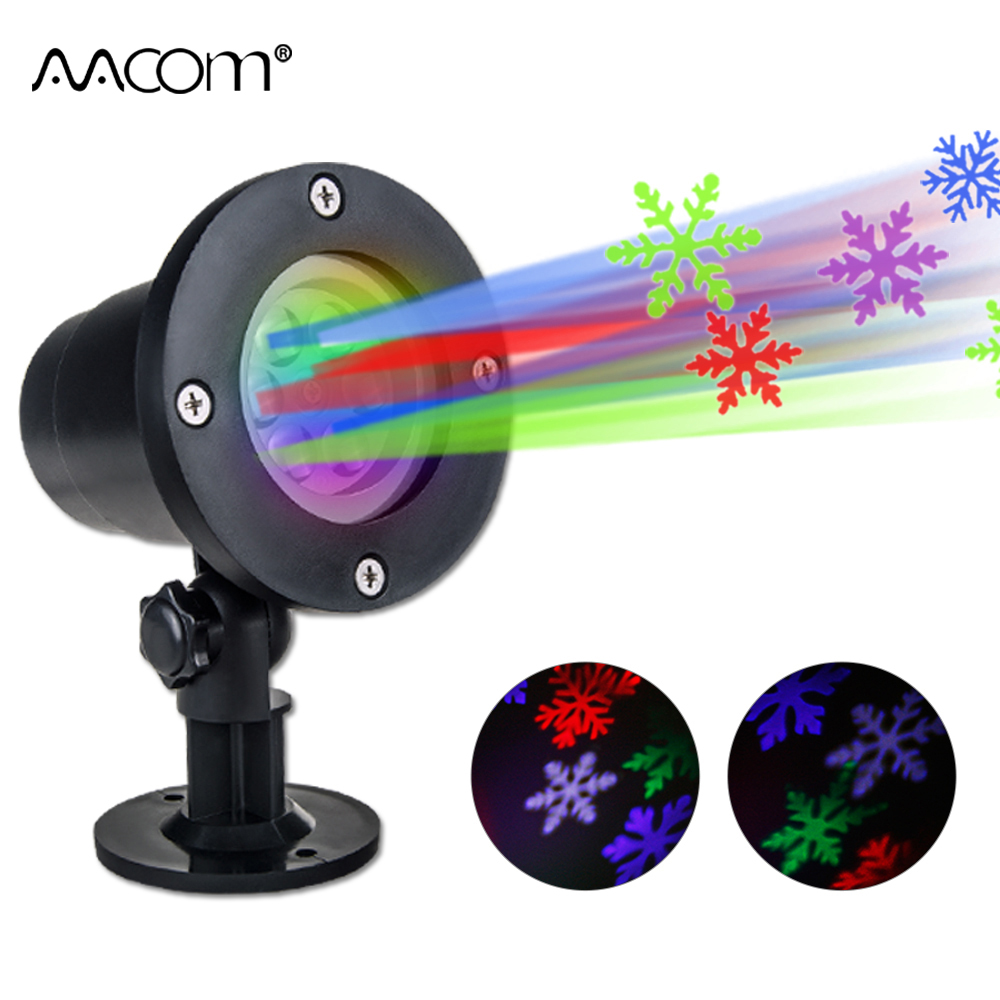 RGBW LED Christmas Snowflake Lawn Lamp 4 Colors Outdoor ...