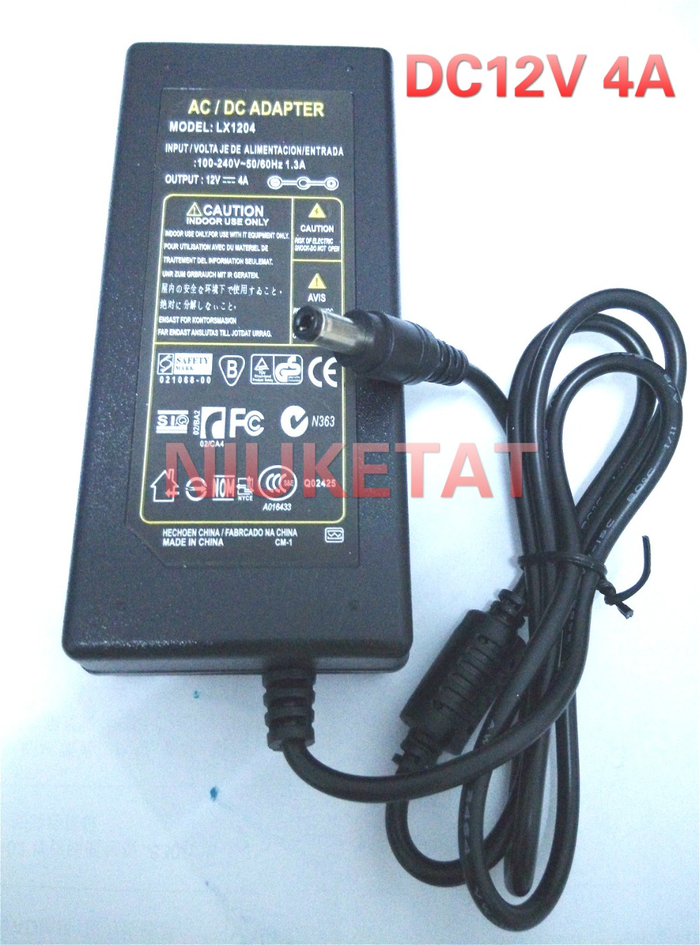 DC 12V 4A AC 100-240V 12V4A LED light power adapter LED Power Supply Adapter drive for RGB LED strip 5050 3528 2835 Without line