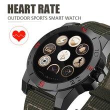 Männer Luxus Smart Uhr Outdoor Sport Smartwatch Mit Pulsmesser Und Kompass Wasserdicht Wach Für ios Und Android