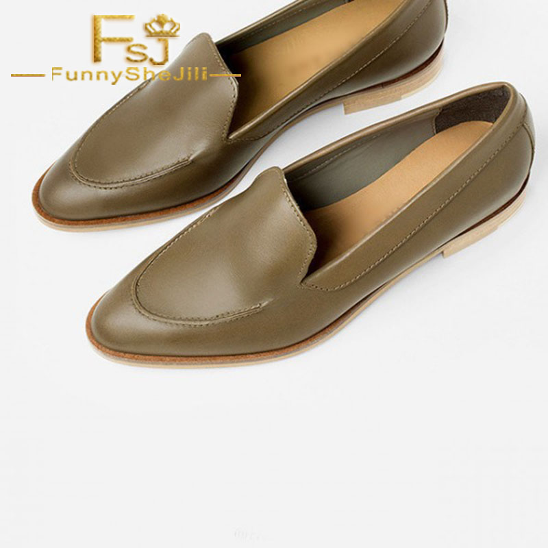 Brown Vintage Pointy Toe Flat Loafers for Women US Size 3-15 Spring Autumn  Children s Day Cyber Monday Fashion FSJ Sexy Elegant c7ab23e8b2