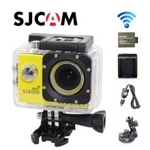 Free Shipping Original SJ4000 WiFi Full HD Sport Action Camera Car Charger Holder Extra 1pcs battery
