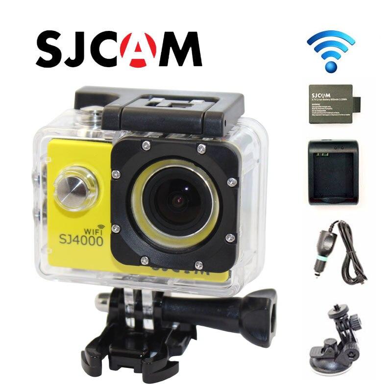 Free Shipping Original SJ4000 WiFi Full HD Sport font b Action b font Camera Car Charger