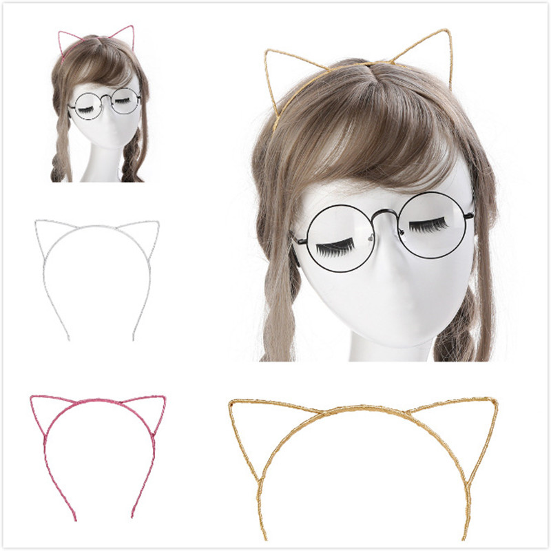 1 PCS Cute Women Girls Cat Ears Headband Accessories Styling Tools Hair Braider Styling Hair band utensilios para el pelo