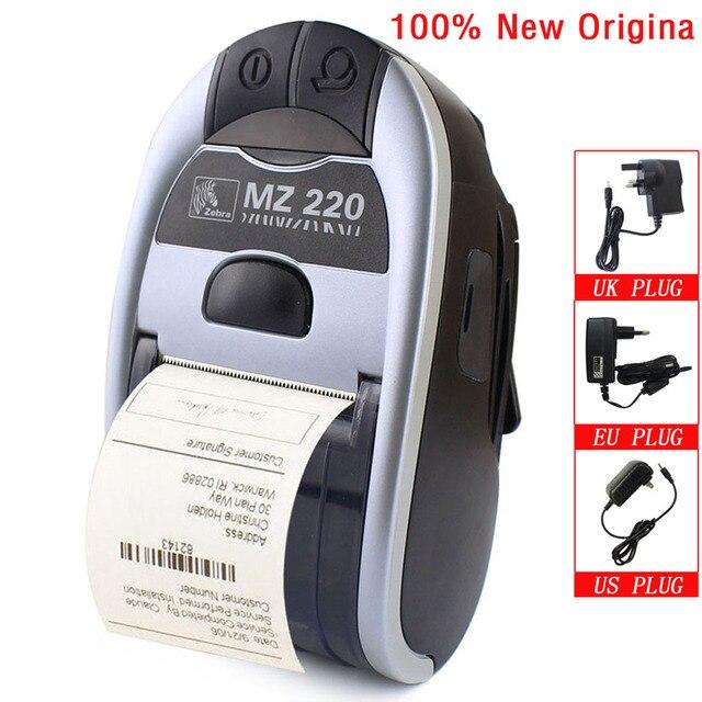 100% جديد الأصلي ل زيبرا MZ220 سماعة لاسلكية تعمل بالبلوتوث طابعة حرارية متنقلة ل 48 مللي متر تذكرة أو التسمية طابعة محمولة 203 ديسيبل متوحد الخواص
