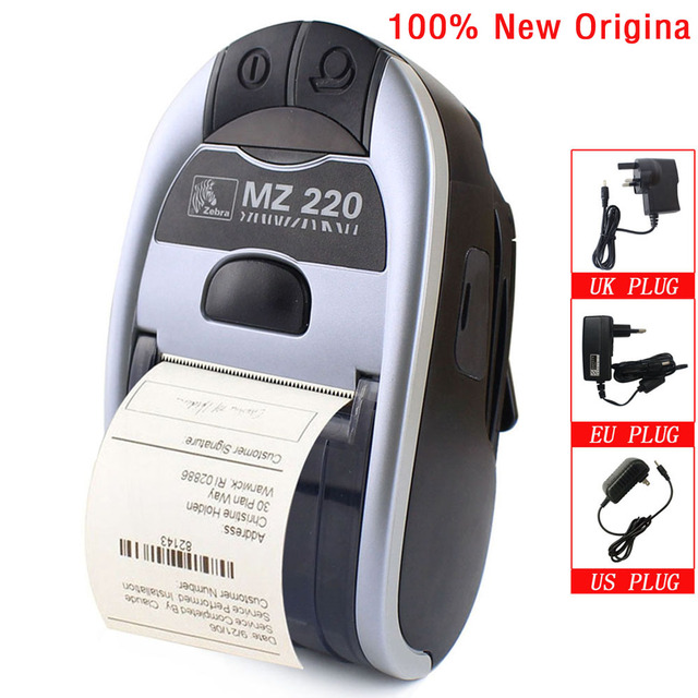 100% New Original For Zebra MZ220 Wireless Bluetooth Mobile Thermal Printer For 50mm Ticket Or Label Portable Printer 203 dpi