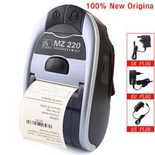 100% nowy oryginalny dla Zebra MZ220 bezprzewodowa mobilna drukarka termiczna Bluetooth dla 48mm bilet lub etykieta przenośna drukarka 203 dpi