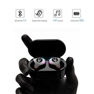 Image 2 - Oreillettes Bluetooth BANDE Bluetooth Bluetooth 5.0 casque de sport IPX5 écouteurs sans fil pour boîtier de chargement de téléphone intelligent