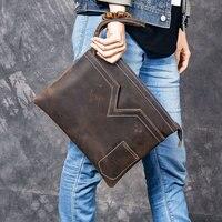 Genuine Leather Mens Bags Tote Crossbody Bags Men's Laptop Messenger Bag Men's shoulder bag Leather Wristlets handbags