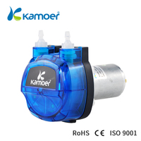 Kamoer KHM High precision peristaltic pump(DC motor 3 rotors) with Plastic gear drive(Norprene tunbe or silicone tube)