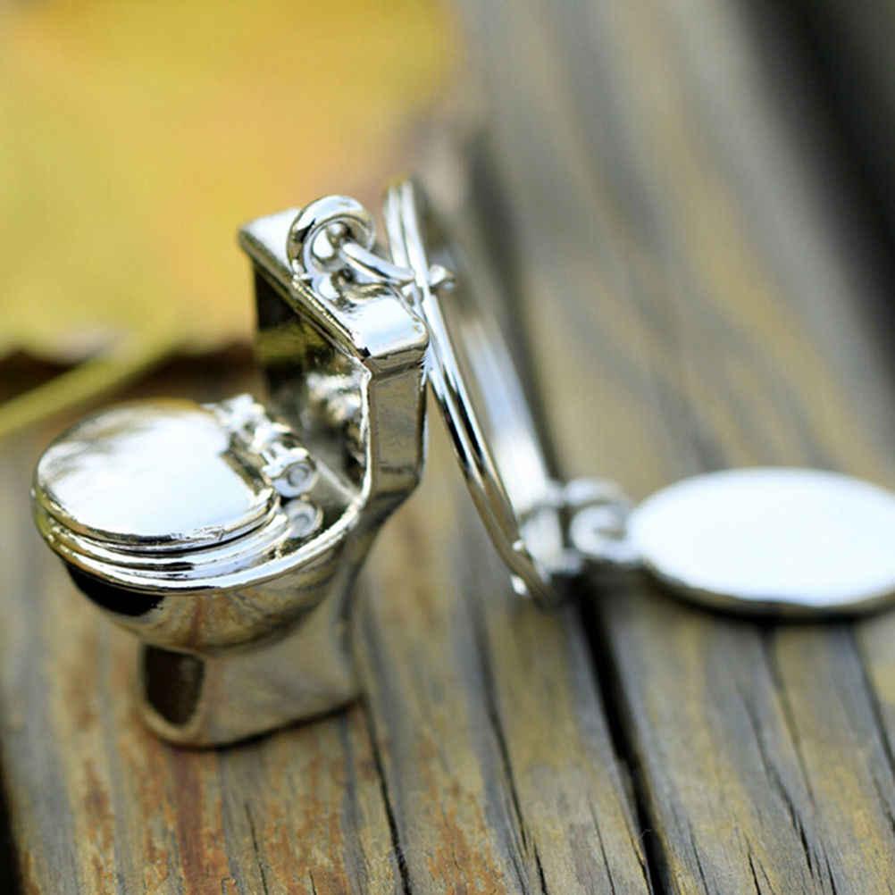 1 шт. мини брелок для туалетного ключа, Классический 3D брелок для ванной, милый креативный подарок, симпатичная цепочка для ключей