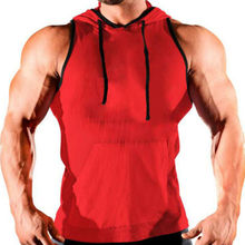 Hot Men Clothing Tank Top Hoodie Stringer Bodybuilding Hooded Muscle Shirt 2019 Sale New