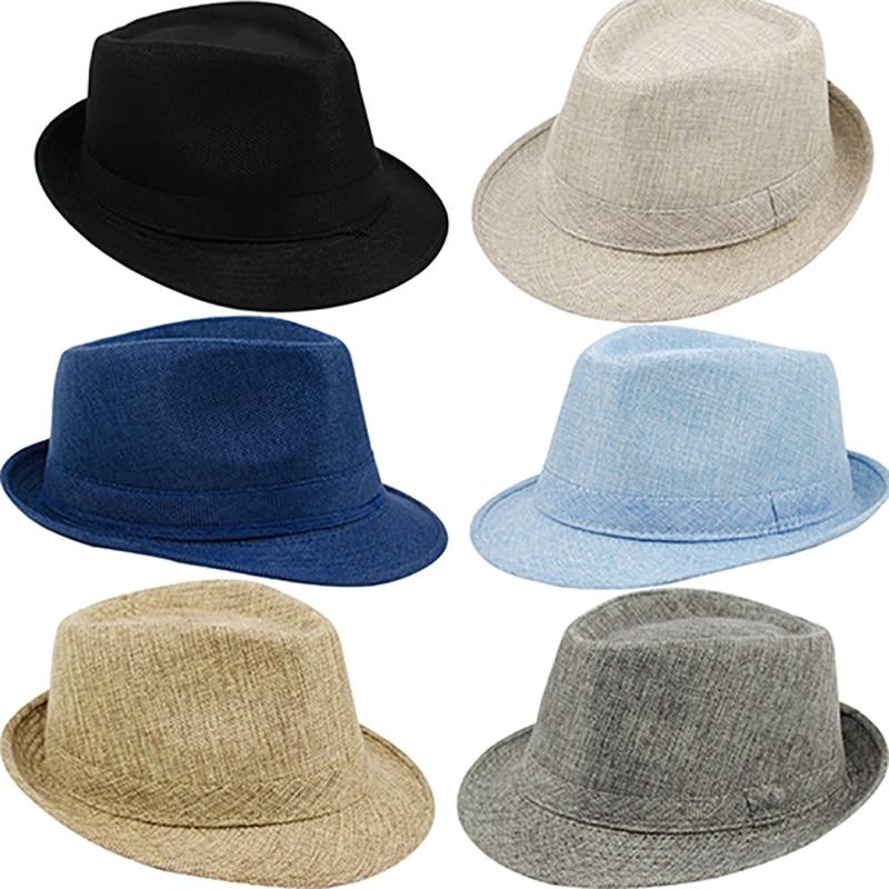 New Mens Womens Summer Beach Hat Sun Screen Linen Fedoras Outdoor Travel Hats New Arrival