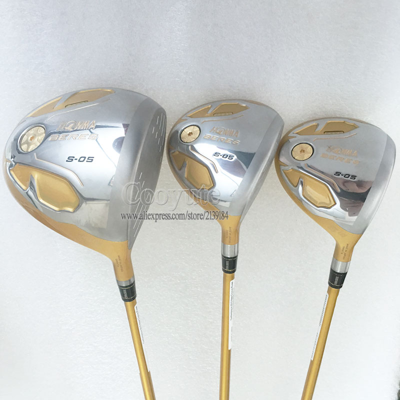 New Cooyute Golf Clubs HONMA S-05 4Star Golf wood Set driver and Fairway Woods Graphite Golf shaft wood headcover Free shipping womens golf clubs maruman rz complete clubs set driver fairway wood irons graphite golf shaft and cover no ball packs