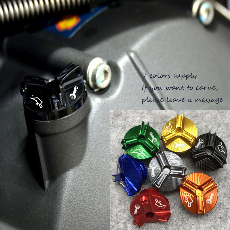Knightofgod <font><b>2019</b></font> For <font><b>Yamaha</b></font> YZF-R6 YZF-R1 YZF-<font><b>R25</b></font> Motorcycle M20*2.5 Engine Oil Filter Cup Plug Cover Screw motor accessories image