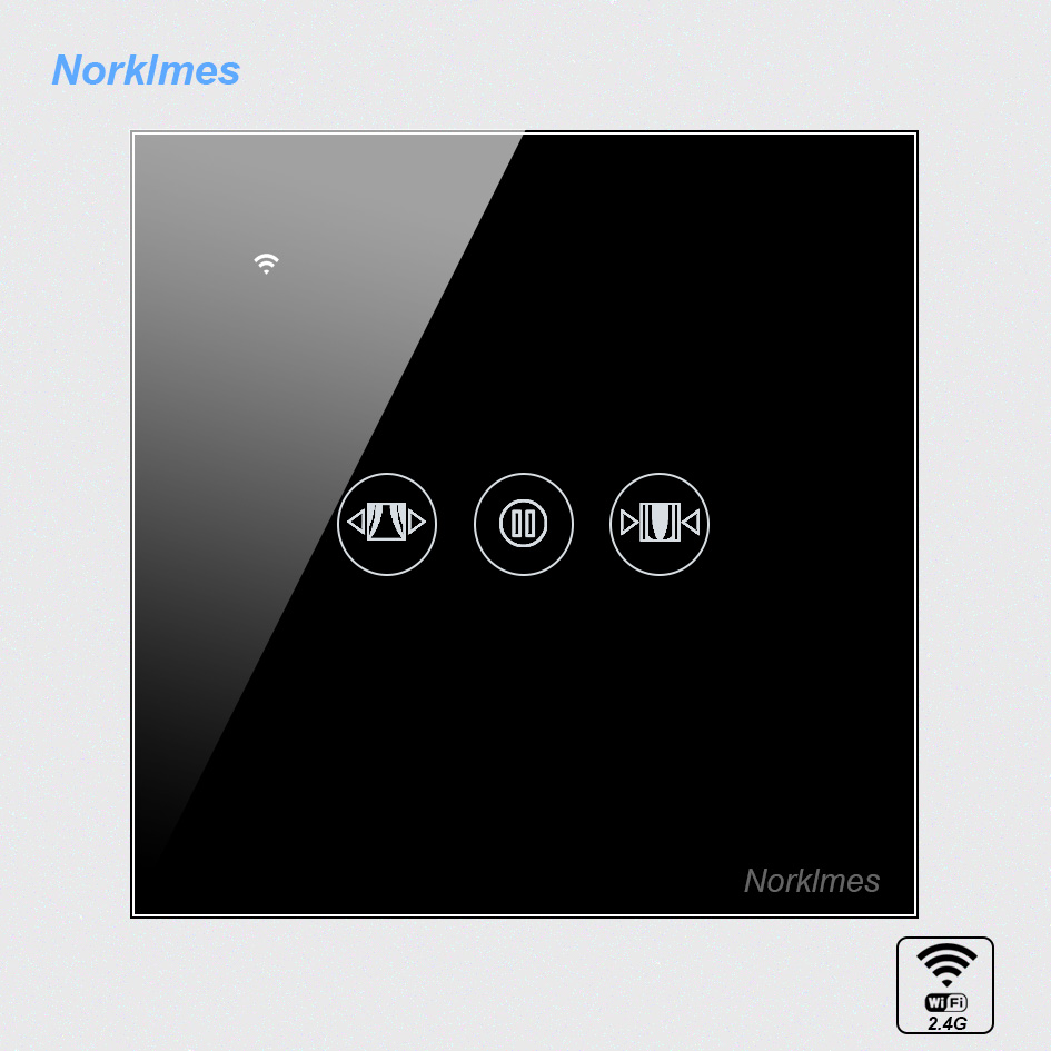 Norklmes Smart home new products Curtain motor control switch wifi remote timing, control, set custom open / close curtains