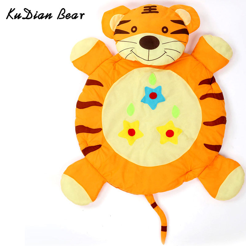 KUDIAN BEAR Baby Play Mat Tapete Infantil Cotton Crawling Mat Educational Game Tiger Gym Blanket Toys Puzzle Carpet BYC431 P49 0 5cm baby educational alphabet game rug bear crawling blanket play mat eva foam mat for children puzzle activity gym carpet
