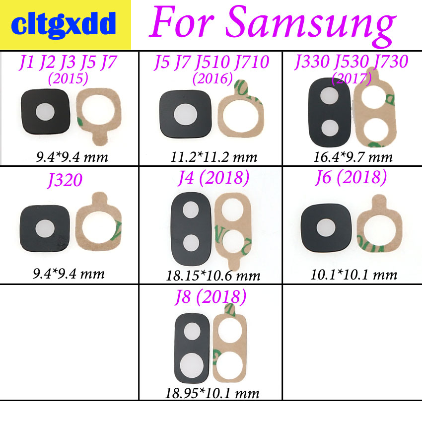 Cltgxdd For Samsung Galaxy J510 J710 J330 J530 J730 J4 J6 J8 2018 J810 J810f Back Rear Camera Glass Lens Cover Replacement