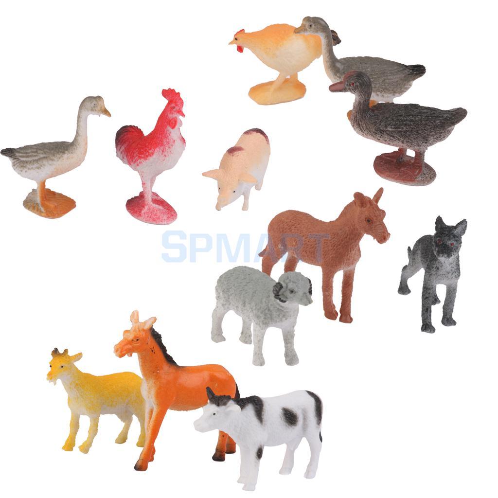 Animals Toys Color : New arrivals plastic goat cat donkey pig dog sheep