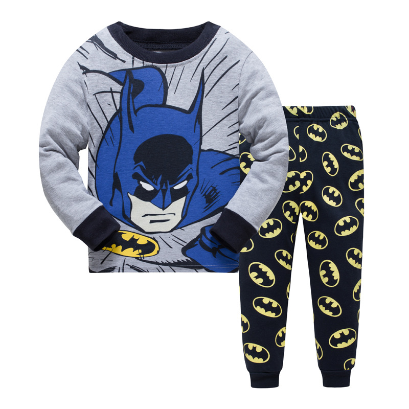 New Batman Kids Pajama Set Boys Sleepwear 3-8 Years Boys Pijamas Set Children's pyjama T-shirt + Pants Baby Boys Clothing Set