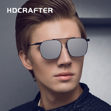 HDCRAFTER  Aluminum Magnesium  Fashion Square Sun Glasses Polarized  Coating Mirror Oculos  UV400 protection eyewear for Men
