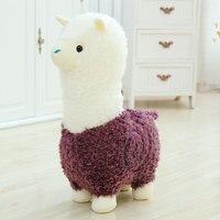Cute 40cm Cartoon Alpaca Plush Toy Fabric Sheep Stitch Stuffed And Soft Animal Toys Llama Pillow