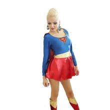Sensuais Capas de Super-heróis Superman Traje Deguisement Halloween Sexy Cosplay Trajes CE333 Americian Sexy Mulher Maravilha Traje Quente
