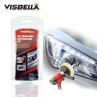 Visbella DIY Professional Headlight Repair Headlamp Restoration Kit for car Head Light Cleaner Renew Lens Polish Hand Tool Sets