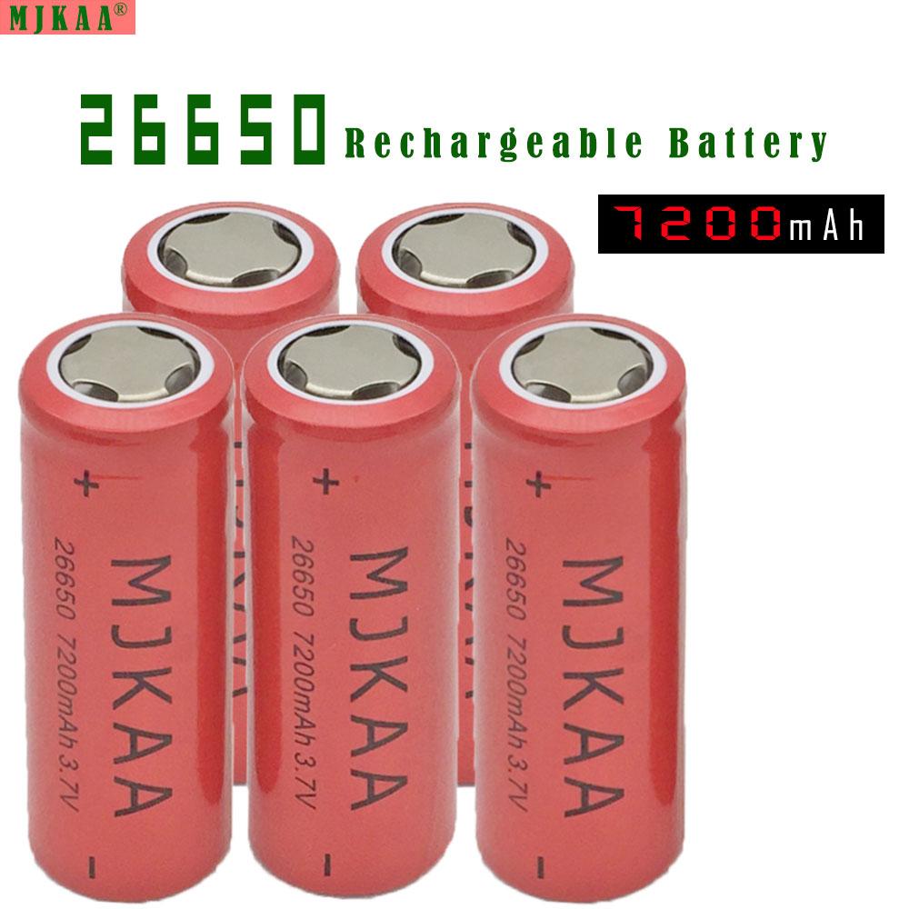 10pcs Lot 26650 7200mAh 3.7V Rechargeable Li-ion Battery For Flashlight Torch