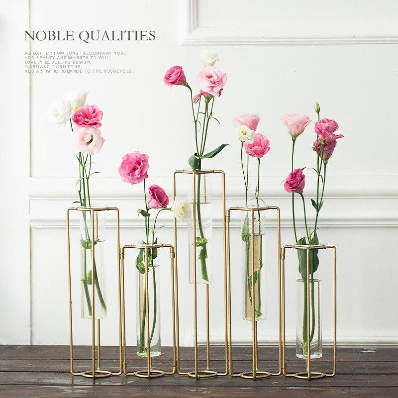 Style minimaliste plante de table bonsaï fleur verre Vase mariage Vase décoratif décoration de la maison accessoires Europe Vases créatifs