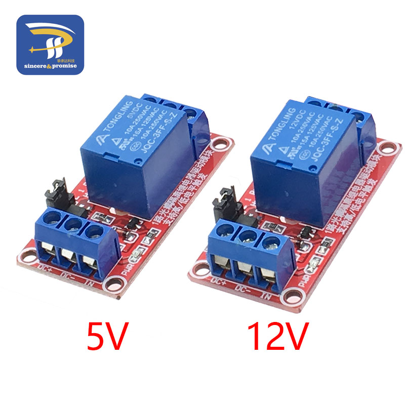 One 1 Channel 5V 12V Relay Module Board Shield For Arduino With Optocoupler Support High And Low Level Trigger