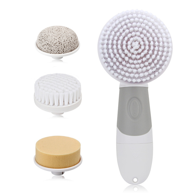 4 in1 Skin Beauty Care Electric Facial Cleanser Waterproof Rotary Brush for Wash Face Body Cleaning Foot Care Tool Skin Massager