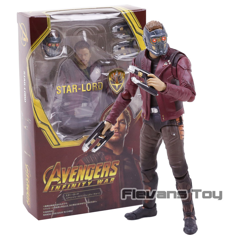 SHF SHFiguarts Star Lord Marvel Avengers Infinity War Guardians of Galaxy PVC Action Figure Collectible Model ToySHF SHFiguarts Star Lord Marvel Avengers Infinity War Guardians of Galaxy PVC Action Figure Collectible Model Toy