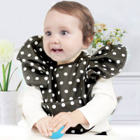 Waterproof Bowknot Baby Children Feeding Bibs Brand Dot Saliva Children Baby Pocket Infantil Bavoir Eating Bandana