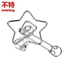 butebuy inel chinezesc IQ metal puzzle de sârmă pentru copii adulți creativ creier puzzle teaser joc educaționale jucării Cadouri