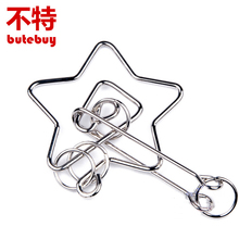 butebuy Chinese Ring IQ Metal Wire Puzzle for Children Adults Creative Brain Teaser Puzzles Game Educational Toys Gifts недорого