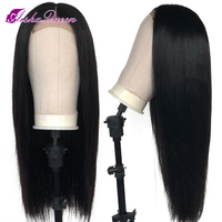 Straight Lace Front Human Hair Wigs Natural Hairline Glueless Brazilian Remy Hair Wigs With Baby Hair Pre Plucked Middle Part