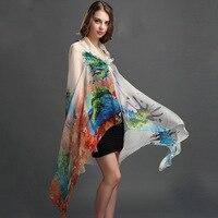 110センチ* 180センチ女性本物のシルクスカーフ100%シルクスカーフショールファッションプリント大サイズnecker卸売春夏のパシュミナ