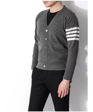 2016 High quality Fashion Winter Cardigan Men's V-Veck casual Knit Polos Sweater Long Sleeve Famous Brands Cotton Sweater XXXL