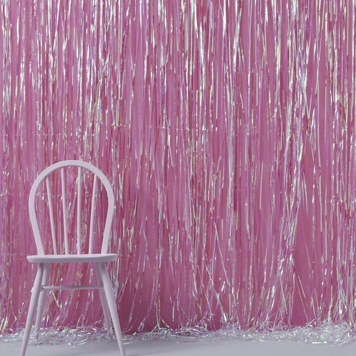Metallic Fringe Foil Shiny Curtain Party Tinsel Photography Backdrop