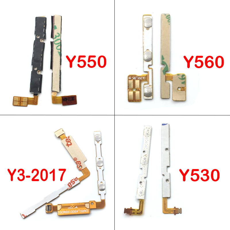 Brand New Power Volume Button Key Flex Cable For Huawei Y3 2017 / Y530 / Y550 / Y560/ Y600  P Smart Replacement Spare Parts