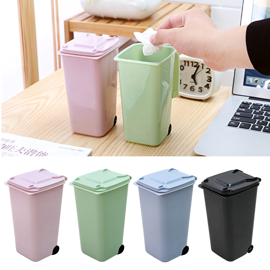 Small Kitchen Trash Cans Us 1 43 5 Off Trash Can Creative Mini Desktop Plastic Bucket Bin Kitchen Household Office Supplies Small Trash Bin For Small Scissors Pencil In